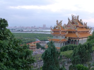 The view from the grounds of Guandu temple