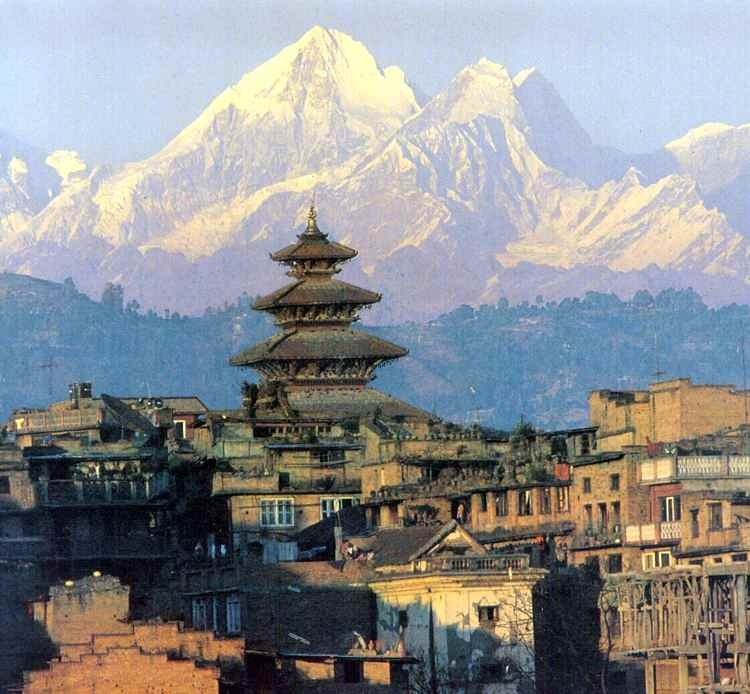 "A picture of the city of Bhaktapur, which is the nearest ""major"" city to monastery where I am volunteering"