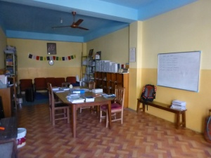 The staff room at the school