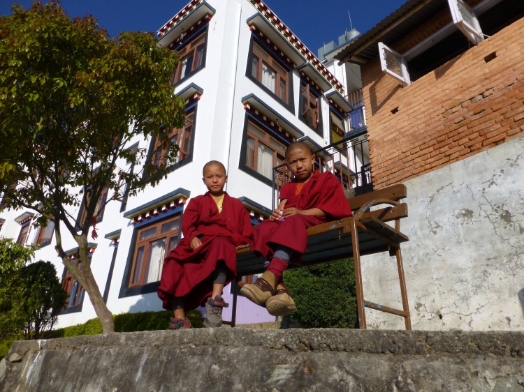 Two of the young monks during a break