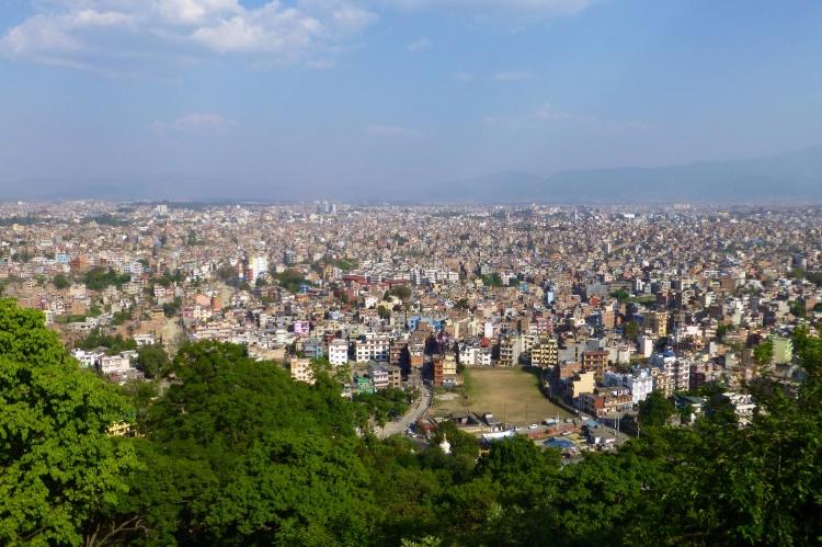 View of the city of Kathmandu from Swayambhunath