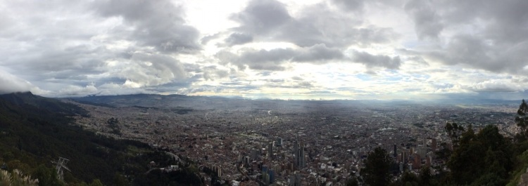 A view of the city of Bogota