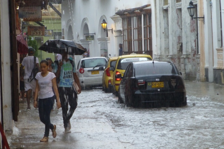 Fantastic  downpour, this is the one in Cartagena